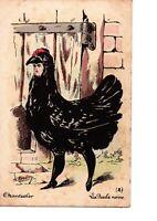 Cpa Chantecler d Edmond Rostand illustration Roberty La poule noire