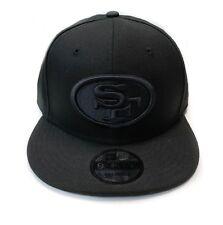 New Era San Francisco 49ers 9Fifty Custom Black on Black Field Snapback Hat Cap