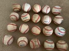 Lot of 20 Used Leather Baseballs