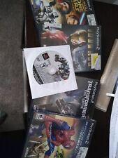 PlayStation 2 game lot Iron Man, Star Wars, Transformers, Spider-Man