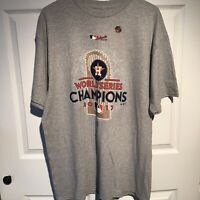 New HOUSTON ASTROS - 2017 World Series Champions Trophy T-Shirt Size XL Majestic