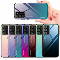 Luxury Tempered Glass Hard Case Cover For Samsung S21 S20 FE S10+ Note20 Ultra