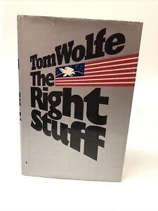 THE RIGHT STUFF Tom Wolfe 1979 1st ed, stated 1st printing  HC DJ nice shape