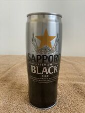 Sapporo Black Imported Premium Beer 22 Oz Japan Empty Beer Can ~ D1