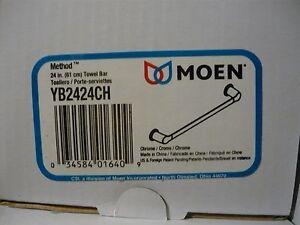 Moen Creative Specialties Method YB2424BN/YB2424CH/YB2418BN/YB2418CH Towel Bar