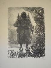 Théophile STEINLEN (1859-1923) GRANDE LITHO NUMÉROTÉE SOLDAT 14-18 WWWI 1915
