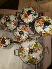 MacKenzie Childs Flower Market Cookware 6 Pieces $920 Retail Sale $699 Free SHIP