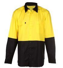 King Gee WorkCool Yel/Black Light Weight Hi Vis Shirt (4XL)