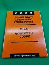 2000 Dodge Viper Shop Service Manual Powertrain Diagnostic Procedures SR27/SR29