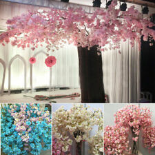 Fake Cherry Blossom Artificial Trees Flower Decoration For Wedding Party Decor
