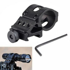"25mm 1"" Offset Rifle Scope Flashlight Torch Laser Weaver Picatinny Rail Mount"