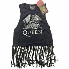 Queen Ladies Tee Vest: Crest Vintage (Tassels)