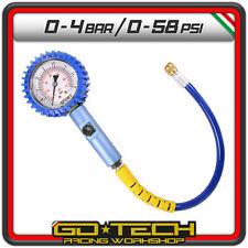 MANOMETRO CONTROLLO PRESSIONE GOMME 63 mm MISURATORE Sport PRECISO PISTA 0-4 bar