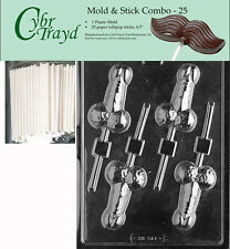 Medium Penis Lolly Adult Chocolate Candy Mold FREE STICKS