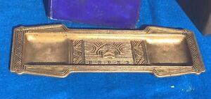 Tiffany Studios American Indian pen tray, c.1910, #1085