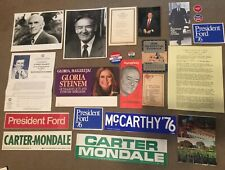 Vintage Political Pins (Humphrey & Ford) Photos, Flyers and stickers
