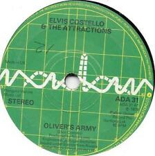 """Elvis Costello & The Attractions - Oliver's Army - 7"""" Record Single"""