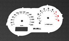 Buell xb12s compteur de vitesse Vitre Blanc Gauge XB xb9s compteur de vitesse plates Dial Speedo Disc White