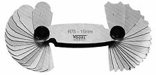 472107  Radienschablone 15,5-25mm Radienlehre NEU VOGEL