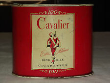 New listing Vintage Tobacco Cavalier King Size Cigarettes 100 Tin