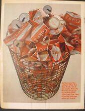 1966 Coca-Cola Red & White Diamond Soda-Pop Can Coke Memorabilia Promo Print Ad