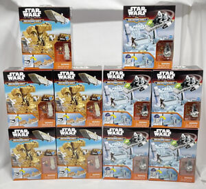 Lot of 10 Hasbro Star Wars The Force Awakens Micro Machines R2-D2 & Stormtrooper