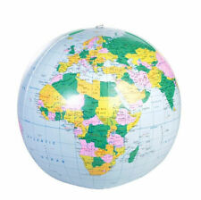 """American Educational 48"""" Inflatable World Globe In Blue"""