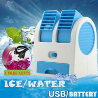 Portable Mini USB Air Conditioner Cooler Fan Rechargeable For Outdoor Desktop UK