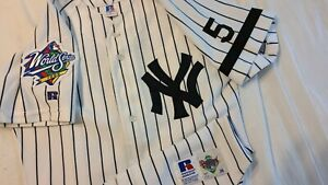 Derek Jeter 1999 World Series New York Yankees Rookie Authentic Jersey Size 36
