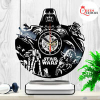 Star Wars Darth Vader Yoda Vinyl Record Wall Clock Home Room Decor Best Dad Gift