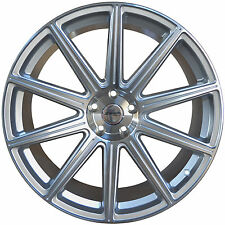 4 GWG WHEELS 20 inch STAGGERED Silver MOD Rims fits INFINITI G37S COUPE 2008-13