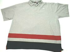 Rocawear Men's Polo Shirt Short Sleeve 5XL Multi-Color Striped embroidered back