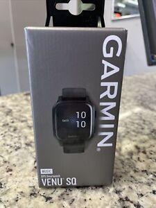 Garmin Venu Sq Music Edition GPS Watch Black with Slate Bezel 010-02426-00