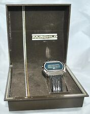 Vintage Fairchild Stainless Blue Dial LCD Watch in Case New Old Stock Working