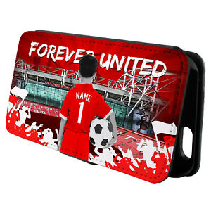 Personalised Man Utd iPhone Case Football Flip Phone Cover Boys Gift CFP38