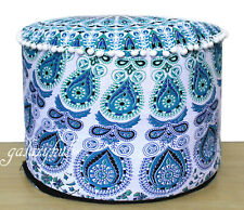 "18"" Round Multi Mandala Pouffe Cover Home Decorative Cotton Ottoman Covers Throw"