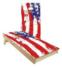American Flag Splatter Cornhole Boards - 2 Sizes + Many Options Available