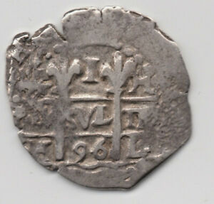 1696 Spanish Peru 1 Real cob