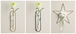 New Glamour Design Wire Wall Vase Easy To Install Modern Look to Home Decor M-21