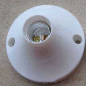 Small Edison Screw Socket SES E14 Batten Light Bulb Holder Lamp Surface Fixing