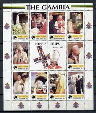 29678) GAMBIA  2000 MNH** Pope Trips: Portugal, Poland...