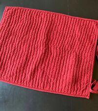 Pottery Barn 1- Sham Red Pick Stitch Linen Blend Reversible Ties Standard