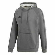 adidas Core 18 Hoodie - Dark Grey Heather/Black, XL