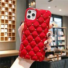 Luxury Classic Diamond Lattice Square Soft Leather Cover Case for iPhone 11 Pro