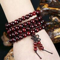 Sandelholz Tibet Buddhismus Mala Sandale Gebetskette 108 Perlen Armband Hal msXI