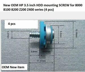 4 new OEM HP 3.5 HDD Mounting Screws for 6000 7000 8000 8100 series Desktop USFF