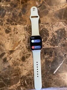 Apple Watch Series 5 44mm Gold-Tone Aluminium Case with Green/Teal Sport Band...