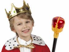 Prinz König Kinder Kostüm Set Königskrone Königszepter Karneval  Kv-144