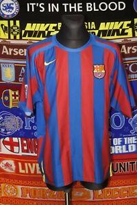 4.5/5 Barcelona adults XL 2005 home football shirt jersey trikot soccer