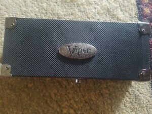 Viper Black Wooden Laminated Single Dart Case With Extra Pockets For Storage